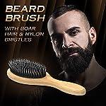 Bossman Boar and Nylon Bristle Hair and Beard Brush - Detangles & Straightens - Wooden Oval Wet Brush for Men 3