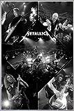 Close Up Metallica Poster Live (93x62 cm) gerahmt in: