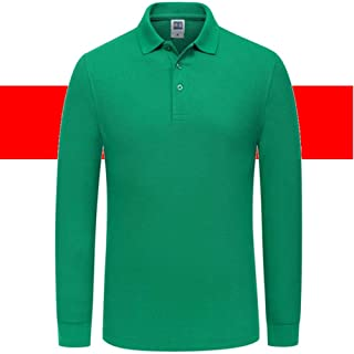 Custom Print Mens Long Sleeve Shirts - Personalized Embroidery Polo Company Work Uniform Work wear -Free Design Typography-