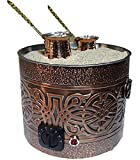 Authentic COPPER COATED ELECTRIC TURKISH ARABIC COFFEE MAKER HEATER at The Hot Sand Brewer Brewing MACHINE 220V for Office Hotel Cafe Restaurant Catering industrial