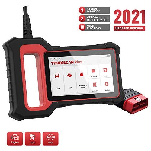 thinkcar Escáner OBD2 Herramienta de escaneo OBDII, lector de código de coche equipado con 28 servicios de mantenimiento (2...