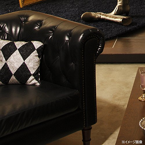 AZUMAYAソファ1人掛け幅99cmブラック合皮フェリーニGS-339BK