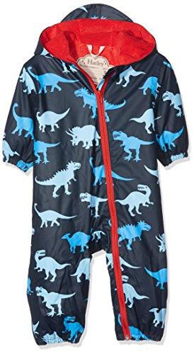 Hatley Hatley Baby-Jungen Mini Rain Bundler Regenmantel, Blau (Dino Shadows), 80