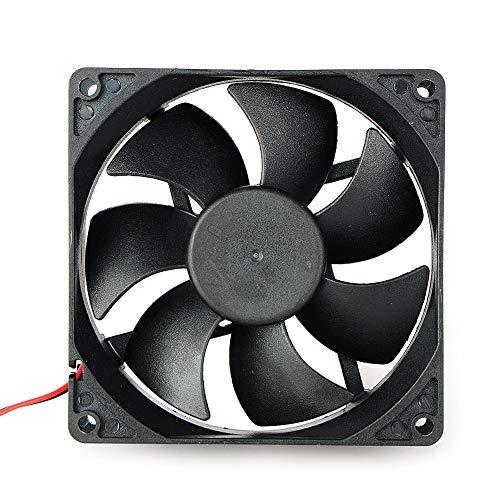 Movilideas Ventilador de 90 mm por 90 mm por 25 mm 9025 DC 12 V rodamiento de Bolas sin escobillas Refrigeración Ventilador 2pin (9025 12V.)