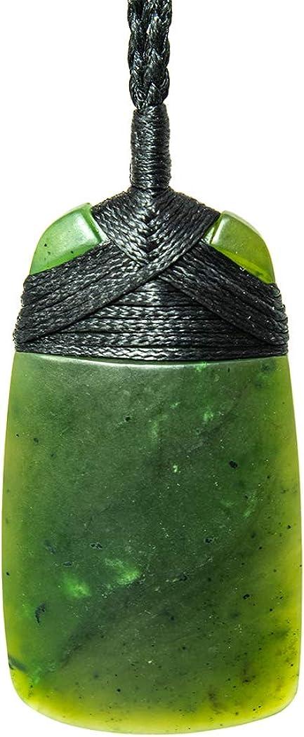 Nephrite Greenstone Jade Maori Adze Toki Strength Necklace 52mm