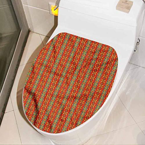 Homesonne - Adhesivo decorativo para asiento de inodoro de diseño oriental (17 x 21 pulgadas)