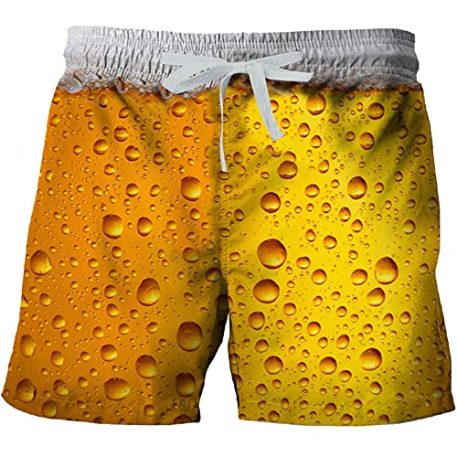 Xiangdanful Kurze Hose Leinen-Shorts lässige Männer Freizeithose Strandhose Stoffhose Sommer-Shorts Loungewear-Shorts Jogginghose Strandhose