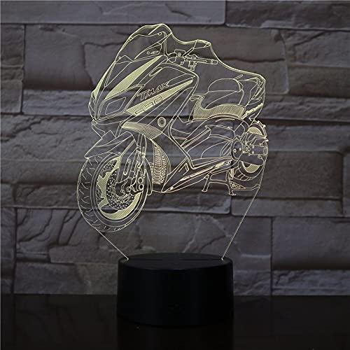Nueva Motocicleta Bicicleta Motocicleta Cool Boy Juguetes Luz De Noche Led 3D Usb Rgb Lámpara De Escritorio Decoración Del Hogar Novedad Regalo De Navidad
