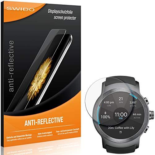 SWIDO Bildschirmschutzfolie für LG Watch Sport [3 Stück] Anti-Reflex MATT Entspiegelnd, Extrem Kratzfest, Schutz vor Kratzer/Folie, Bildschirmschutz, Schutzfolie, Panzerfolie