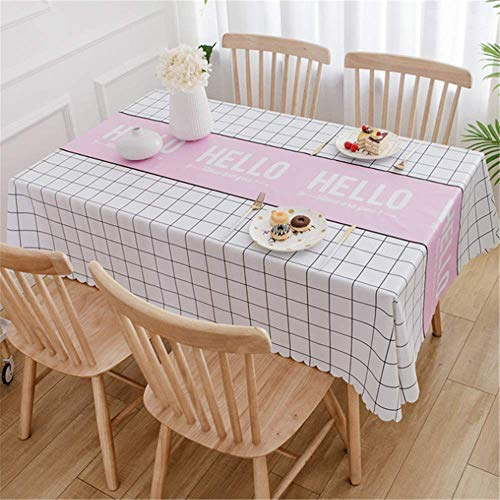 XIAOE Home Decoration Heavy Weight Vinyl Tablecloth Rectangle Table Oil Proof Waterproof Stain Resistant Mildew Proof Wipe Clean Pvc Table Cloth Kitchen Dinning 40 * 60cm