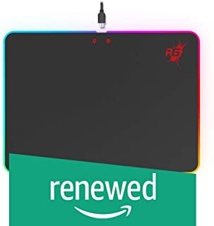 (Renewed) Redgear MPR350 Hard Base Mousepad with 4 LED Spectrum Mode