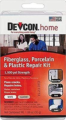 Devcon Fiberglass, Porcelain and Plastic Bathtub Repair Kit