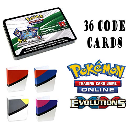 Pokemon XY Evolutions 36 Booster Pack Online Code Card with Totem Mini Binder