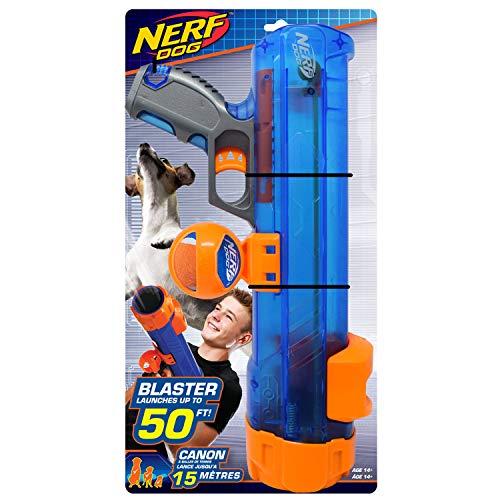 Nerf Dog 16in Translucent Blaster w/Ball Clip  Blue/Orange/Gray