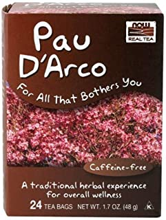 NOW Foods Real Tea PAU D'Arco - 24 Tea Bags