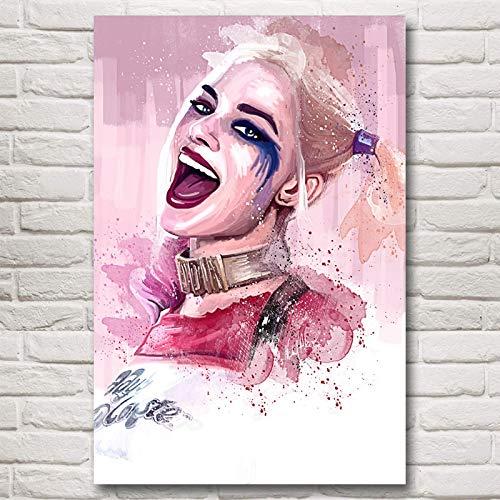 baodanla Geen frame Squad Margot Robbie Harley Quinn Film Art Zijde Poster Prints Home Decor ng I