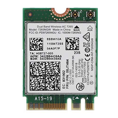 Mavis Laven Drahtlose Netzwerkkarte, Bluetooth 4.0 Dual Band Wireless 867M-Netzwerkkarte für Intel Dual Band Wireless-AC 7265