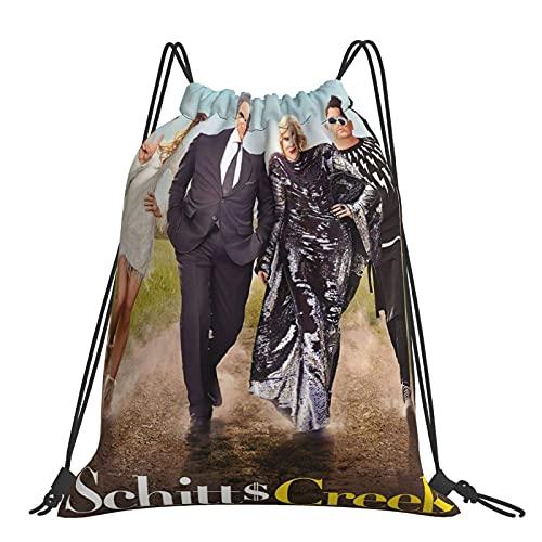 Jupsero Schitt's Creek Mochila Sackpack Bolsa de cuerda Cinch Bag Sport Beach Daypack para gimnasio, compras, deporte, yoga