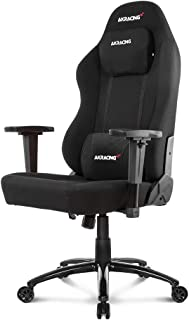 AKRacing Office Series Opal Ergonomic Fabric Computer Chair with High Backrest, Recliner, Swivel, Tilt, Rocker and Seat Height Adjustment Mechanisms with 5/10 warranty - Black