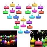 LED Teelichter, 24 Pack Rainbow LED Teelichter Elektrisch Batteriebetrieben Elektronische Stimmungslichter für Feier, Party, Geschenk, Valentinstag