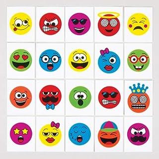 Baker Ross AV294 Grappig Gezicht Tijdelijke Tatoeages (24 stuks) Speelgoed en Traktaties voor Kinderen