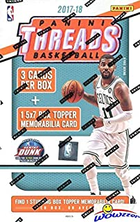 2017/18 Panini Threads NBA Basketball EXCLUSIVE Factory Sealed Box with One HUGE 5x7 STUNNING BOX TOPPER MEMORABILIA Card! Look for Donovan Mitchell, Jayson Tatum, Kyle Kuzma & More! WOWZZER!