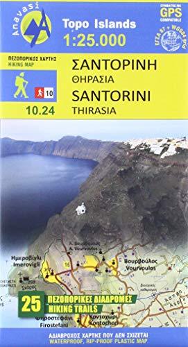 Wanderkarte 10.24 Santorini 1:25 000: Topografische Wanderkarte 10.24. Griechische Inseln - Ägäis, Kykladen