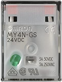 Omron MY4N-GS DC24 Relay 24VDC, 4PDT 3A