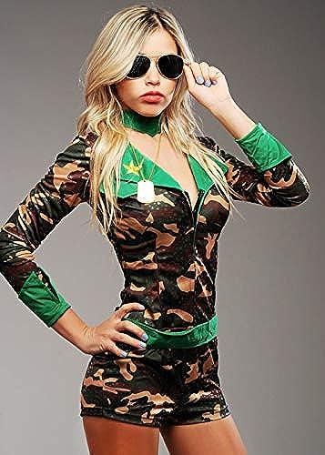 nuevo sádico Magic Box Disfraz de de de mujer de ejército de Lentejuelas Cortas para mujer Small (UK 8-10)  comprar ahora