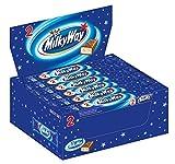 Milky Way Chocolatina de Delicioso Turrón Blanco Recubierto de Chocolate con Leche 40 g - Pack de 28