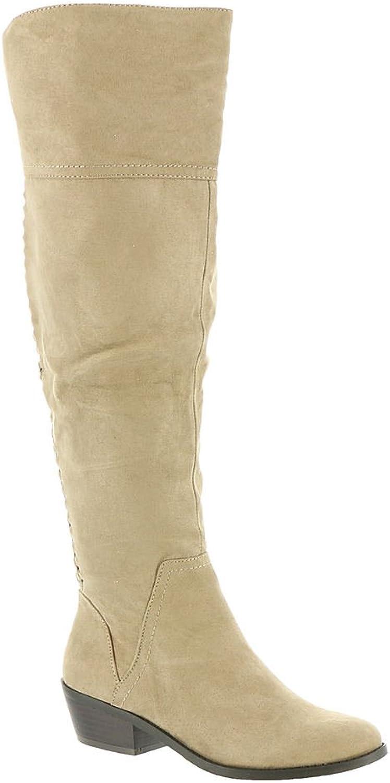 MADELINE girl Womens Tuef Fabric Closed Toe Knee High Fashion Boots