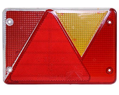 Verre de rechange pour feu arrière droit Multipoint 4 IV 18-8486-007 Pour remorque de voiture côté DROIT