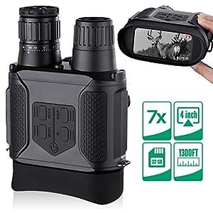 Binoculares Digitales Vision Nocturna, Tomar Fotos y Videos -Equipo de Espionaje infrarrojo de 3.5-7x31mm,850nm IR… 6
