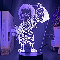 ワンピースサウロン3D LEDナイトライトクリエイティブホームデコレーション3Dビジョン3Dビジュアル照明7色変更USB充電テーブルランプ誕生日プレゼントエンターテイメント装飾ギフト子供のおもちゃ [並行輸入品]