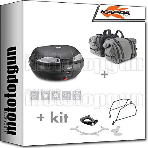 kappa maleta k53n + alforjas laterales ra316 + portaequipaje monokey + soporte alforjas compatible con honda nc 750 s 2020 20