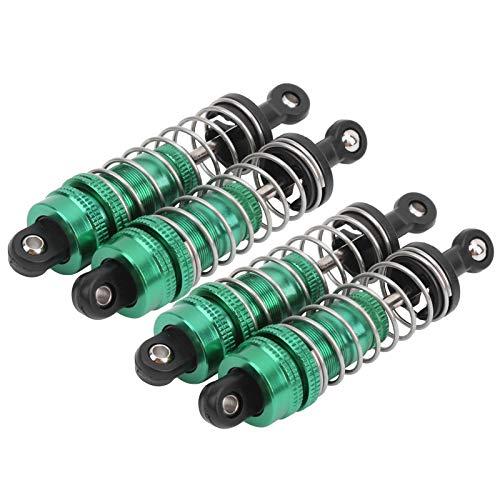 Amortiguador de puntales de choque 1/14, accesorio de repuesto de 4 piezas para amortiguador de puntales de choque de mano de obra exquisita, niños para reemplazo de coche RC(green)