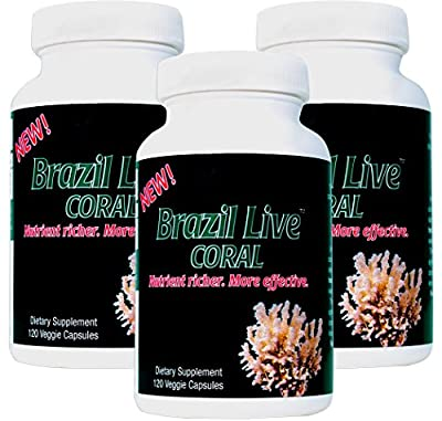 Best Coral Calcium Supplement - Live Harvested & Cold Processed Coral Calcium - From the Beaches of Brazil with Magnesium & Vitamin D3 - Environmentally Safe