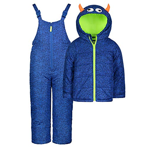Carter's Boys' Character Snowsuit, New Navy Monster, 24 Months