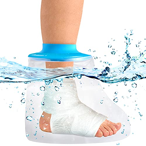 Cast Covers for Shower Adult Foot, Waterproof Foot Cast Wound Cover Protector for Shower Bath,Soft Comfortable Watertight Seal to Keep Wounds Dry, for Broken Surgery Foot, Wound and Burns -Reusable