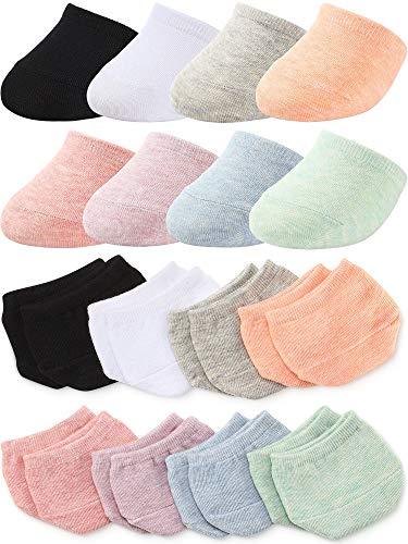 8 Pairs Toe Topper Liner Half Socks Seamless Women's Socks Toe Half Socks (Black, White, Light Gray, Light Blue, Light Purple, Light Pink, Light Green, Orange)