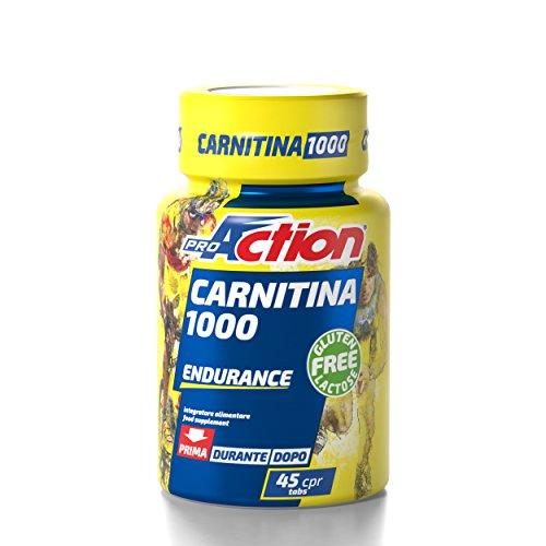 ProAction Carnitina 1000 - Barattolo da 45 compresse