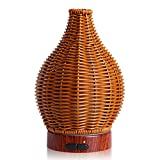 kobodon Essential Oil DiffuserRattan woven Ultrasonic Cool Aroma Mist Humidifiers Aromatherapy Wicker Diffusers with Waterless Auto Shut-Off Protection for Home,Office Desk,Yoga,SPA
