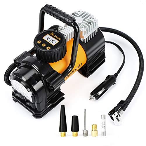 AstroAI Luftkompressor Reifenfüller Tragbare Luftpumpe für Auto 12V DC Digitale Kompressor 150PSI mit LED-Notlicht für Autos, LKWs, Motorräder usw. Geschenke für Männer