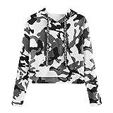 2019 Crop Hoodie,Women's Long Sleeve Camouflage Print Jumper Pullover Tops Sweatshirt by-NEWONESUN