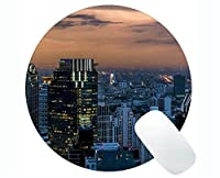 Life Quotes Gaming Round Mouse Pad、Bangkok Character is the first and last word in the success Round Mouse Pads