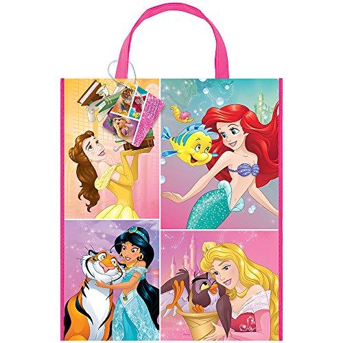 Unique Party 59978 - Grand Sac de Fête en Plastique - 33 cm x 28 cm - Fête à thème Princesse Disney