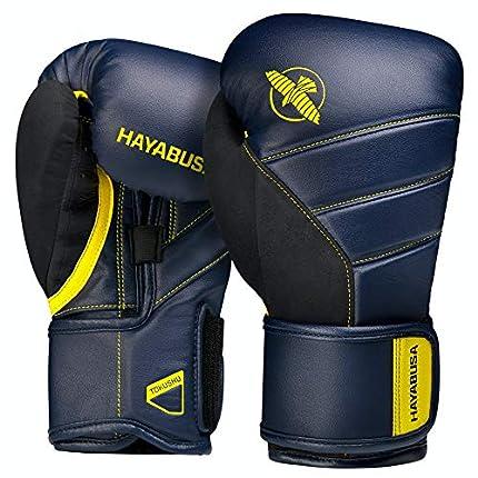 Hayabusa - Guantes de boxeo T3, 16oz, Azul Marino/Amarillo