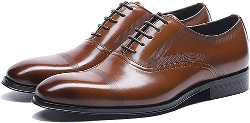 RSHENG Herren Oxford Oxford Oxford Schuhe Geschnitzte Brock Runde Kopf Schuhe Herren Freizeitschuhe mit spitzen Business Schuhe Arbeitsschuhe  billig und Mode