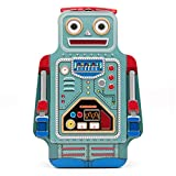 Suck UK ROBOT LUNCH BOX | TIN | TOY STORAGE | BEDROOM DECOR & ORGANIZATION |, 9.6 x 3.3 x 6.4 in, Multicolored