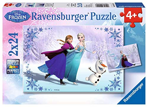 Ravensburger Disney Frozen Sisters Always Puzzle Box 2 x 24 Piece Jigsaw Puzzles for Kids - Every Piece is Unique, Pieces Fit Together Perfectly